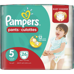 Pampers Pants Culottes Size 5 (12-18KG) Junior 26 Counts