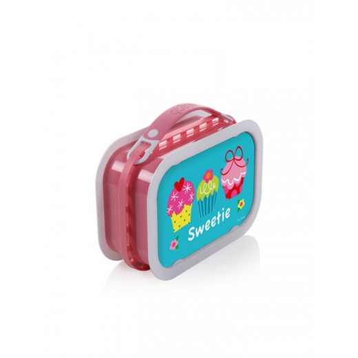 Yubo Deluxe Lunchbox-Color: Pink-Cupcakes