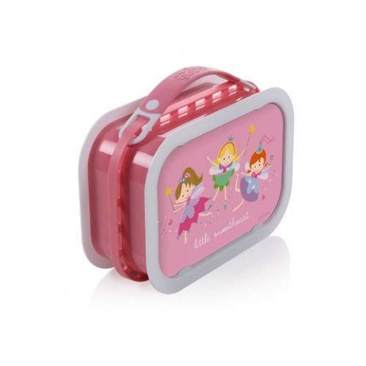 Yubo Deluxe Lunchbox-Color: Pink-Princess