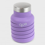 Que Collapsible Water Bottle, Violet Purple, 355 ml
