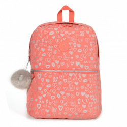 Kipling Emery Hearty Pink Met