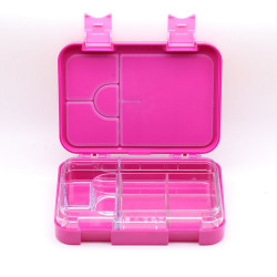 GenioWorld Bento Lunch Box 6 Compartment, Leak Proof, Pink
