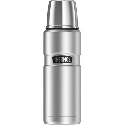 Thermos Stainless Steel Double Wall Beverage Bottle 470ml, Silver