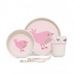 Penny Bamboo Meal Set with Cutlery - Chirpy Bird
