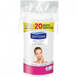 فوط قطنية بيضاوية الوجه مزدوجة من سيبتونا (40 فوطة + 20 مجانية)