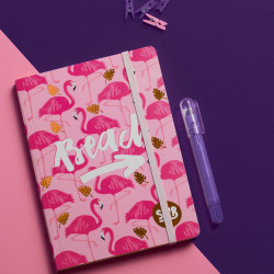 Mofakera Flamingo Notebook with Rubber Band A5 Size
