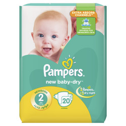 Pampers New Baby – 20 Pack – Size 2