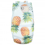 Pure Born - Organic Nappy Size 3, Pineapple Print, 5.5-8 Kg, 28 Nappies