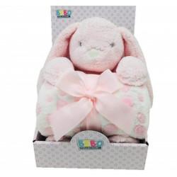 نوفا بطانية مع ألعاب - مفرد - أرنب 75 × 100 سم - بينك