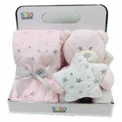 NOVA Toy W/ Blanket Angle 75x75CM Pink