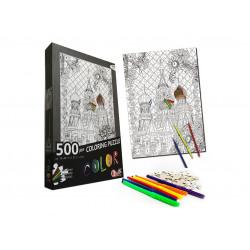 Coloring Puzzle 500 Pieces ( Castle )