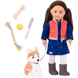Our Generation B. toys by Battat  Doll & Pet - Leslie with Husky