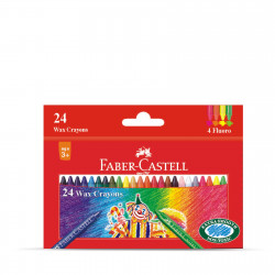 Faber Castell Wax Crayons 90mm 24cl
