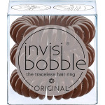 invisibobble ORIGINAL Hair Ties, Pretzel Brown, 3 Pack - Traceless, Strong Hold, Waterproof - Suitable for All Hair Types
