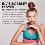 invisibobble POWER Hair Ties, Crystal Clear, 3 Pack - Extra Strong Grip, Suitable for All Hair Types