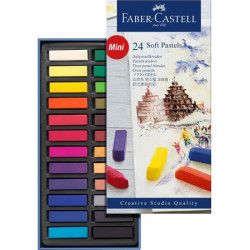 Faber Castell Soft pastels mini, cardboard wallet of 24