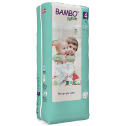 Bambo Nature Diapers Size 4 (7-14 Kg), 48 diapers