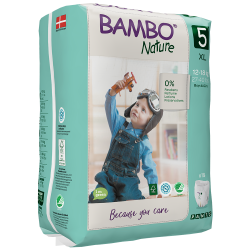 Bambo Nature Pants Size 5 (12-18 Kg), 19 diapers