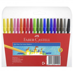 Faber-Castell Fiber pen washable 20 colors