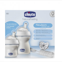 Chicco - Natural Feeling Feeding Bottle Set - Small