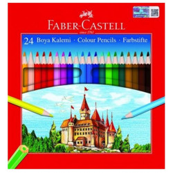 Faber Castell Boya Crayons 24 Colors Full Length