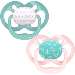 Dr. Brown's Advantage Pacifier - Stage 2, 2-Pack, Pink, 6-18 m