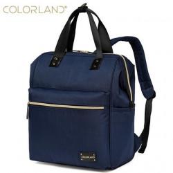 ColorLand Zara Unisex Baby Diaper school Backpack water Resistant (Navy Blue)
