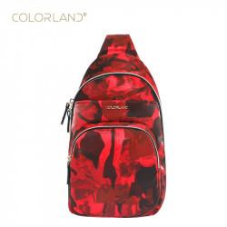 ColorLand Chest Shoulder Bag, Red
