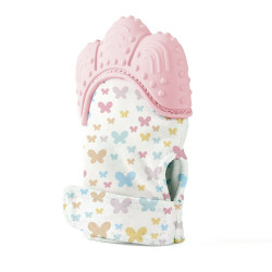 Baby jem Baby Teether Gloves Scratch - Pink
