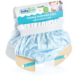 BabyJem 2 Piece Luxury Training Pant, 3 Age Blue Toilet Training Slip