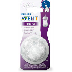 Philips Avent Natural Nipple for Thick Feed 2 pcs, +6m