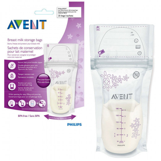 Philips Avent Breast milk storage bags 180 ml, 25 Bags