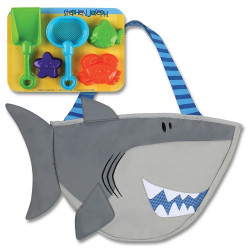 Stephen Joseph Beach Totes with Sand Toy Play Set, Shark
