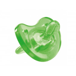 Chicco Physio Soft Colored (6-12M) Silicone, 1 Piece, Green