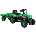 Dolu Tractor Pedal Operated With Trailer, Green