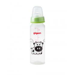 Pigeon Decorated Bottle - (Slim Neck) 240ml 1PC - Green