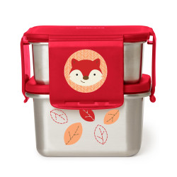 Skip Hop Zoo Stainless Steel Lunch Kit- Fox
