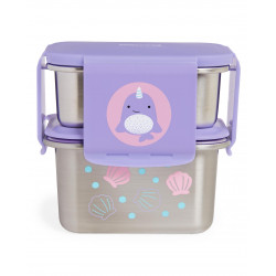 Skip Hop Zoo Stainless Steel Lunch Kit- Narwhal