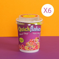 Quickflakes Colored Rings X6 Cups