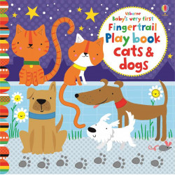 Baby's Very First Fingertrail Play book Cats and Dogs, 10 pages