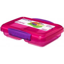 سيستيما لانش بوكس منقسم ملون, 350 مل, اللون الزهري