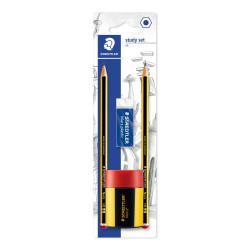 Staedtler Blistercard Containing 2 Graphite Pencils HB, 1 Eraser and 1 Tub Sharpener