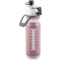 O2COOL Mist N 'Sip Insulated Squeeze Water Bottle, 590 ml, Football