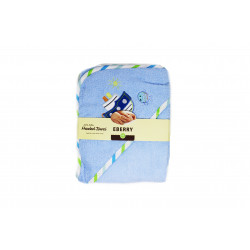 EBERRY Hooded Towel, Blue, Different Shapes