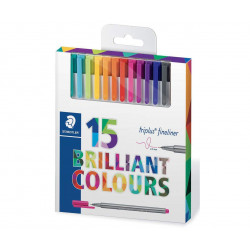 Staedtler Triplus Fineliner Pen - Pack of 15