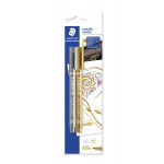 Staedtler Metallic Pen 1-2 mm, Pack of 2- Gold&Silver