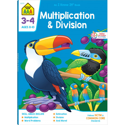 School Zone - Multiplication & Division Grades 3-4 Ages 8-10