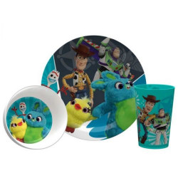 Zak Disney Toy Story 4 Dinnerware Set of 3pc Woody, Buzz & Friends