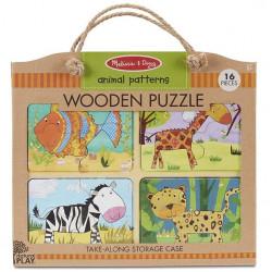 Melissa & Doug Wooden Puzzle Animal Patterns