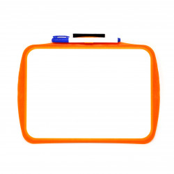 Baby Children's Color Magnetic Plate Board for 1-5 Years, orange
